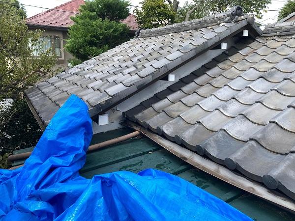 東京都豊島区 T様邸 屋根葺き替え工事 雨漏り 瓦棒屋根 施工前 (1)