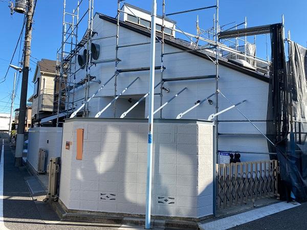 東京都練馬区 K様邸 屋根塗装 ブロック塀塗装の工程 日本ペイント パーフェクトトップ (1)