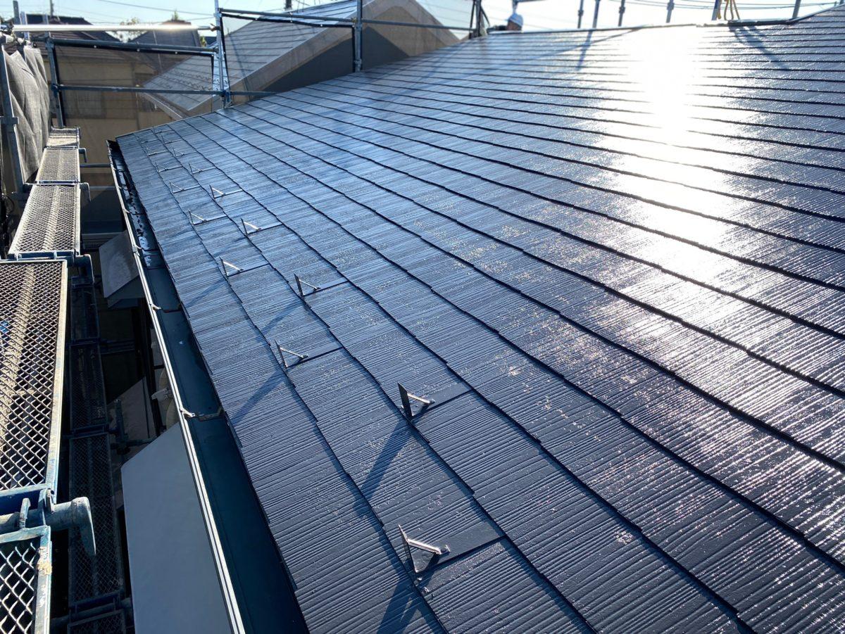 東京都練馬区 K様邸 屋根塗装 ブロック塀塗装 日本ペイント ラジカル制御型塗料 パーフェクトトップ (3)