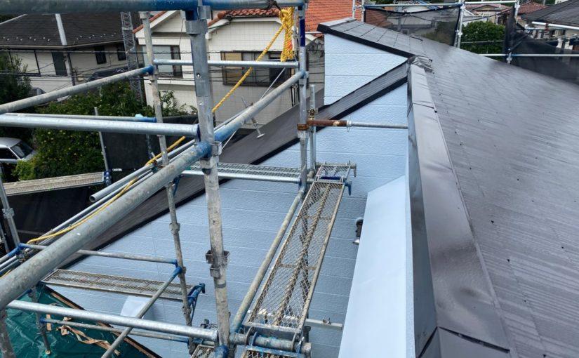 東京都練馬区 K様邸 屋根塗装 ブロック塀塗装 日本ペイント ラジカル制御型塗料 パーフェクトトップ (1)