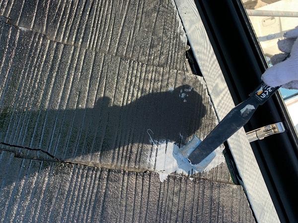 東京都練馬区 K様邸 屋根塗装 ブロック塀塗装 ひび割れ(クラック) シーリング材による補修 (2)