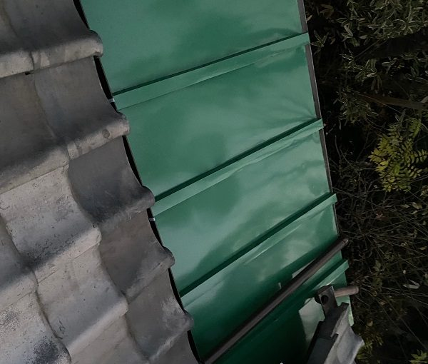 東京都豊島区 T様邸 屋根葺き替え工事 雨樋部分交換 軒天交換 (1)