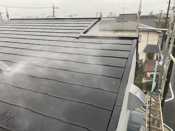 東京都練馬区 K様邸 屋根塗装 ブロック塀塗装 バイオ洗浄(高圧洗浄) 工程 (1)