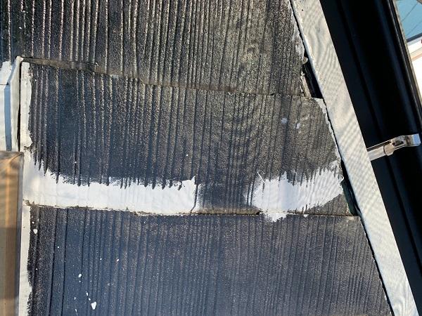 東京都練馬区 K様邸 屋根塗装 ブロック塀塗装 ひび割れ(クラック) シーリング材による補修 (1)
