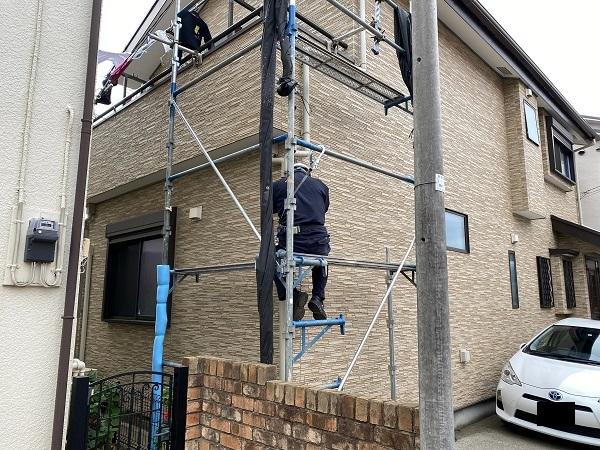 東京都中野区 K様邸 雨樋交換 足場組み立て 部分交換 火災保険を使った修繕工事とは