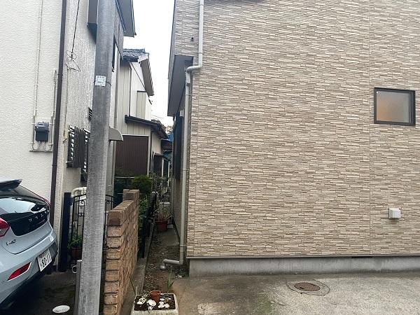 東京都中野区 K様邸 雨樋交換 足場組み立て 部分交換 火災保険を使った修繕工事とは (7)