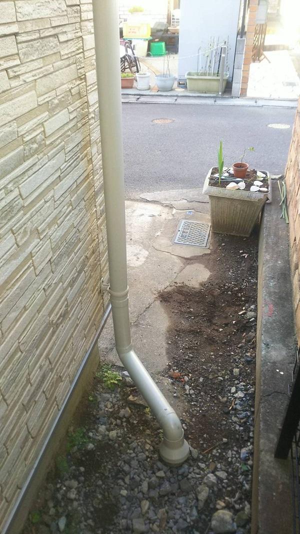東京都中野区 K様邸 雨樋交換 足場組み立て 部分交換 火災保険を使った修繕工事とは (3)