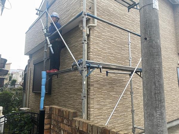 東京都中野区 K様邸 雨樋交換 足場組み立て 部分交換 火災保険を使った修繕工事とは (8)