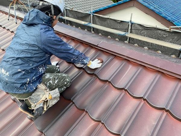 東京都大田区 N様邸 屋根塗装 下地処理 ケレン作業 高圧洗浄 (6)