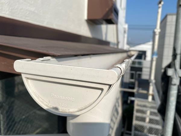 東京都豊島区 M様邸 雨樋・霧除け庇交換 施工前の状態 (2)