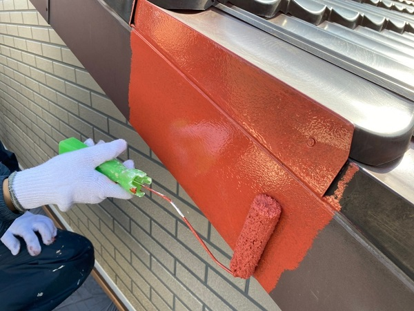 東京都大田区 N様邸 屋根塗装 下塗り 日本ぺイント ハイポンファインプライマーII (10)