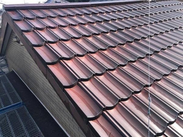 東京都大田区 N様邸 屋根塗装 下地処理 ケレン作業 高圧洗浄 (1)