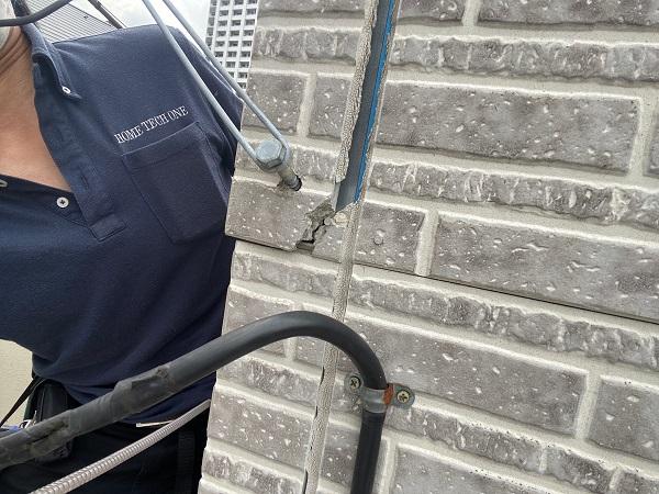 東京都品川区 I様邸 外壁塗装 劣化補修 ひび割れ(クラック) シーリング (5)