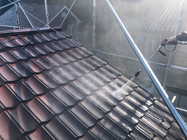 東京都大田区 N様邸 屋根塗装 下地処理 ケレン作業 高圧洗浄 (3)