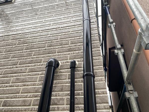 東京都品川区 I様邸 外壁塗装 ベランダ手すりの塗装 雨樋塗装 (4)