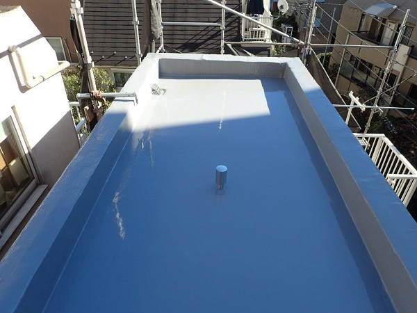 東京都目黒区 T様邸 防水工事 屋上 トップコート塗布 完工 (6)