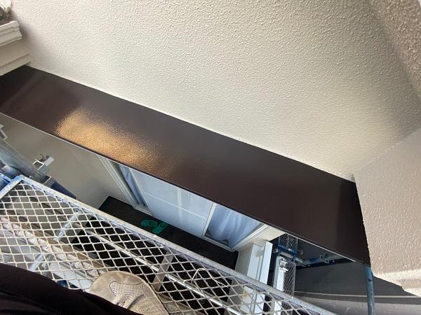東京都杉並区 N様邸 屋根塗装・外壁塗装・付帯部塗装 庇の塗装 ケレン作業 (1)