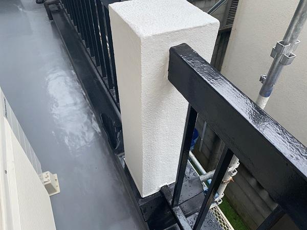 東京都品川区 I様邸 外壁塗装 ベランダ手すりの塗装 雨樋塗装 (1)