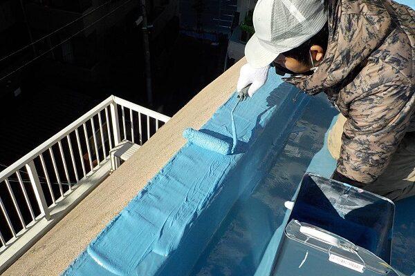 東京都目黒区 T様邸 防水工事 屋上 ウレタン通気緩衝工法 シーリング打ち替え工事 (3)