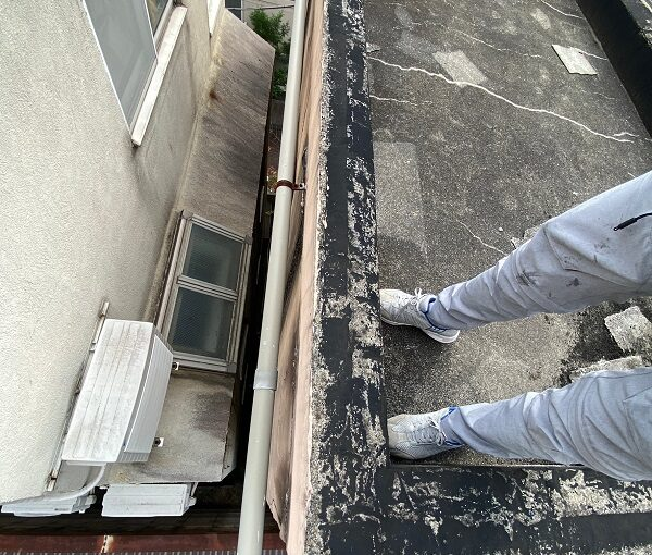 東京都目黒区 T様邸 防水工事 屋上 防水工事とは何か 施工前 現場調査 (1)