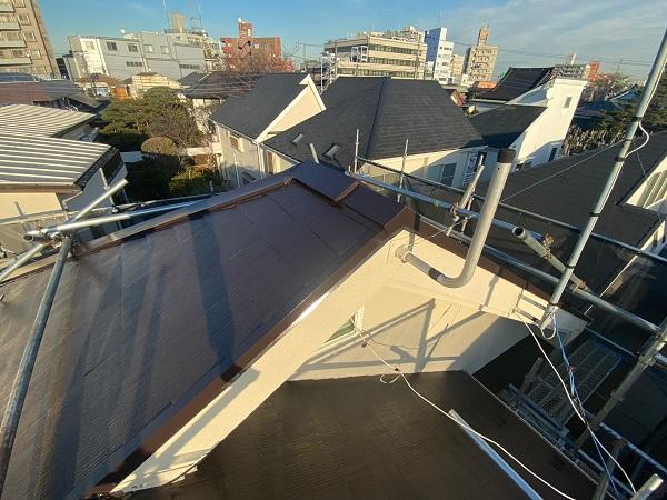 東京都杉並区 N様邸 屋根塗装・外壁塗装 屋根塗装③ 雪止め 日本ペイント 遮熱塗料 サーモアイ (3)