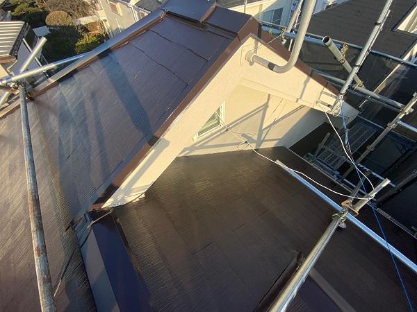 東京都杉並区 N様邸 屋根塗装・外壁塗装 屋根塗装③ 雪止め 日本ペイント 遮熱塗料 サーモアイ (2)