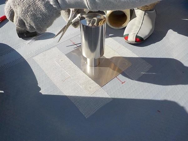 東京都目黒区 T様邸 防水工事 屋上 ウレタン通気緩衝工法 シーリング打ち替え工事 (1)
