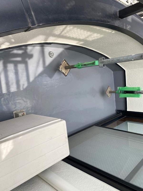 東京都世田谷区 B様邸 屋根塗装・外壁塗装・付帯部塗装・防水工事 ベランダ 縦型ドレン (6)