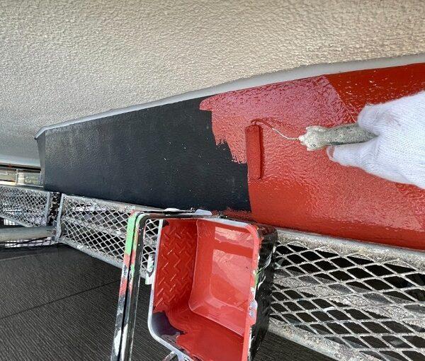 東京都世田谷区 B様邸 屋根塗装・外壁塗装・付帯部塗装・防水工事 出窓の屋根、換気フード塗装 (10)