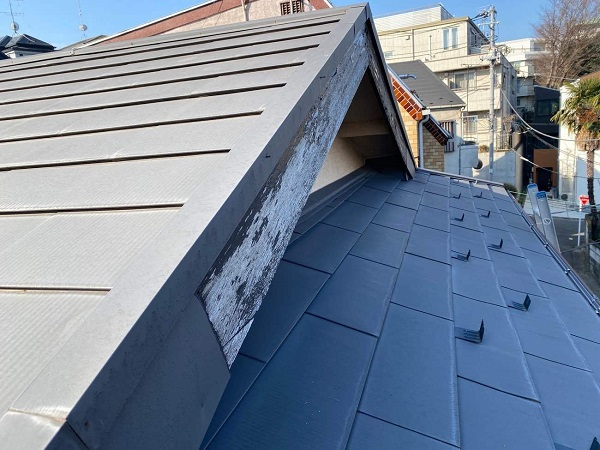 東京都中野区 T様邸 屋根塗装 破風板板金巻き (1)