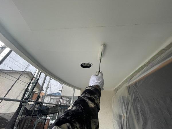 東京都世田谷区 B様邸 屋根塗装・外壁塗装・付帯部塗装・防水工事 軒天、ベランダの水切り塗装 (7)
