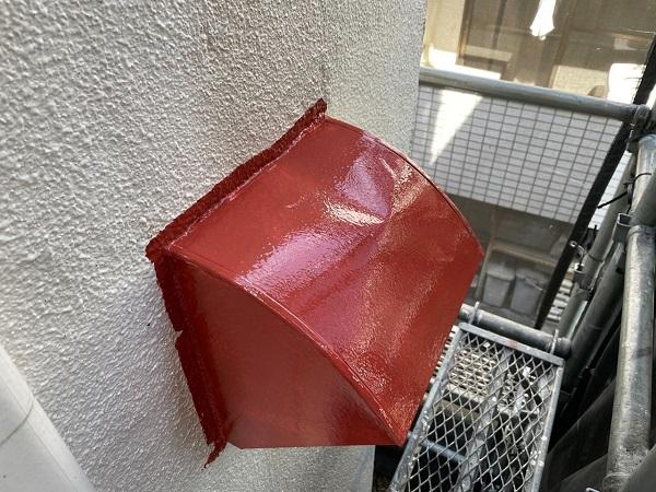 東京都世田谷区 B様邸 屋根塗装・外壁塗装・付帯部塗装・防水工事 出窓の屋根、換気フード塗装 (8)