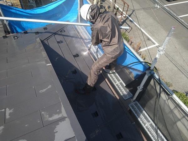 東京都中野区 T様邸 屋根塗装 破風板板金巻き 高圧洗浄 シーリング工事 (19)