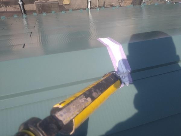 東京都中野区 T様邸 屋根塗装 破風板板金巻き 高圧洗浄 シーリング工事 (14)