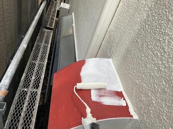 東京都世田谷区 B様邸 屋根塗装・外壁塗装・付帯部塗装・防水工事 出窓の屋根、換気フード塗装 (7)