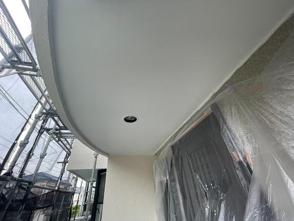 東京都世田谷区 B様邸 屋根塗装・外壁塗装・付帯部塗装・防水工事 軒天、ベランダの水切り塗装 (2)