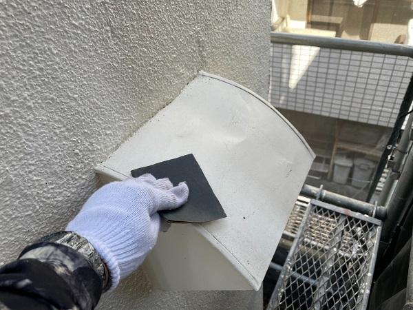 東京都世田谷区 B様邸 屋根塗装・外壁塗装・付帯部塗装・防水工事 出窓の屋根、換気フード塗装 (5)