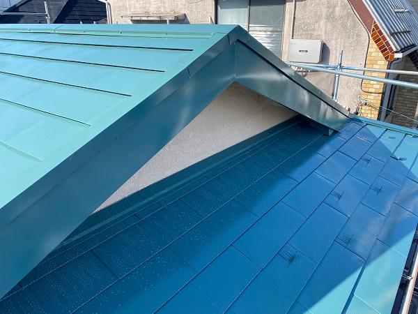 東京都中野区 T様邸 屋根塗装 破風板板金巻き (10)