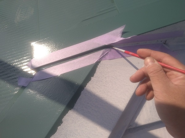 東京都中野区 T様邸 屋根塗装 破風板板金巻き 高圧洗浄 シーリング工事 (25)