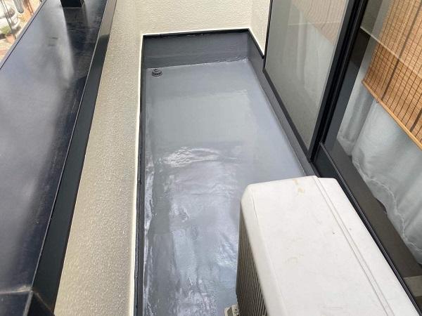 東京都世田谷区 B様邸 屋根塗装・外壁塗装・付帯部塗装・防水工事 ベランダ 縦型ドレン (5)