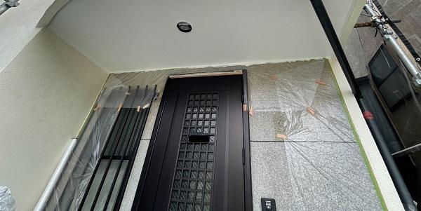 東京都世田谷区 B様邸 屋根塗装・外壁塗装・付帯部塗装・防水工事 足場設置 高圧洗浄 養生 (5)