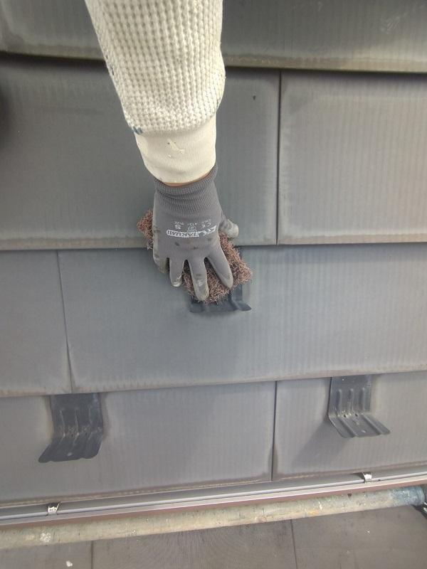 東京都中野区 T様邸 屋根塗装 破風板板金巻き1 (2)