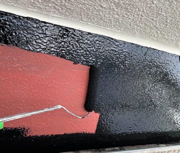 東京都世田谷区 B様邸 屋根塗装・外壁塗装・付帯部塗装・防水工事 出窓の屋根、換気フード塗装 (12)