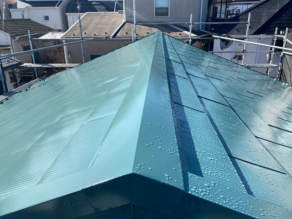 東京都中野区 T様邸 屋根塗装 破風板板金巻き (4)