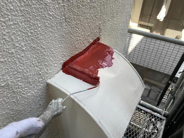 東京都世田谷区 B様邸 屋根塗装・外壁塗装・付帯部塗装・防水工事 出窓の屋根、換気フード塗装 (6)
