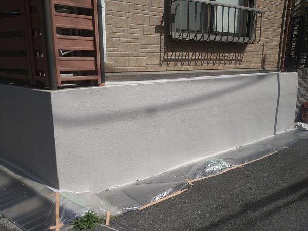 東京都新宿区 M様邸 基礎補修 シーリング工事 基礎塗装 (9)