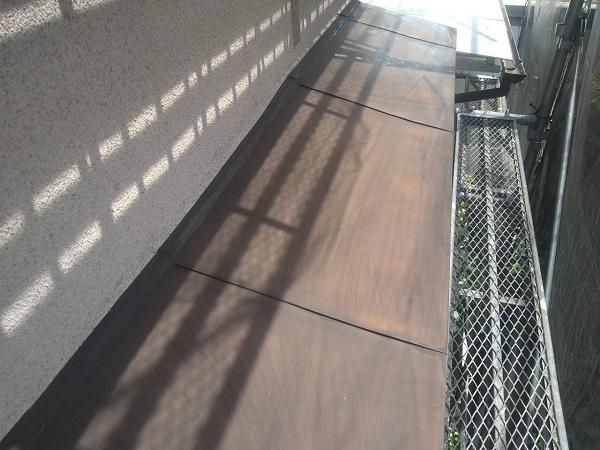 東京都世田谷区 K様邸 屋根塗装・付帯部塗装・劣化補修 霧除け庇塗装 付帯部とは (3)