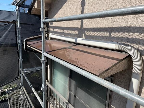 東京都世田谷区 K様邸 屋根塗装・付帯部塗装・劣化補修 霧除け庇塗装 付帯部とは (13)