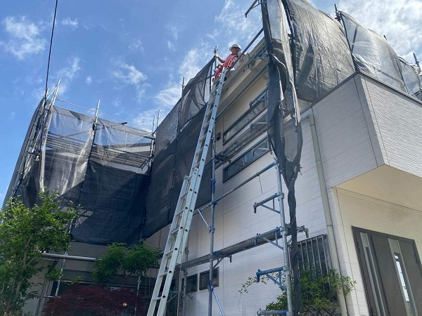 東京都足立区 M様邸 屋根葺き替え工事 既存屋根材撤去 近隣への配慮について (13)