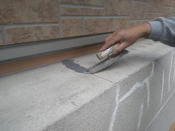 東京都新宿区 M様邸 基礎補修 シーリング工事 ひび割れ(クラック)の補修 シーリングによる補修 (5)